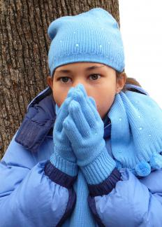 When a person is cold, shivering helps generate heat to bring the body back to homeostasis.