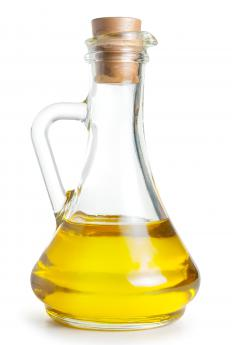 Olive oil, which can be used to marinate a crown roast.