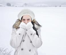 Cold weather experts recommend covering the head and hands during winter weather events.