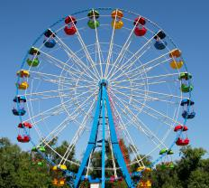 Hydraulic machines make Ferris wheels turn.