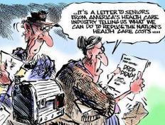 Satire is commonly employed in political cartoons to point out particular issues affecting society.