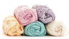 Dyed wool may be used in a variety of craft projects.