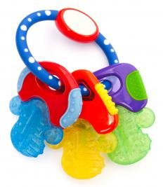 When a child is teething, toys like teething rings may provide some relief.