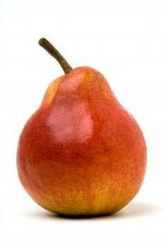 Pears are slow-cooked and pureed to create pear butter.