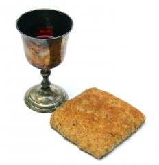 The mystical qualities of the Eucharist might be discussed in a theology class.
