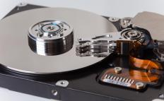 An IP surveillance system might record video files to a computer hard drive.