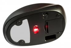 A laser mouse contains a laser that monitors the movements of the mouse, while a standard mouse uses an LED light.