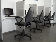 Cubicle farms are offices where workers are primarily separated by partitions.