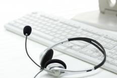 Secretaries who work outside of the office can use a headset to communicate effectively.