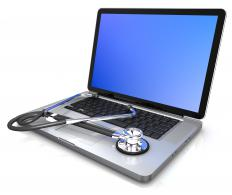 A laptop used for EMR.