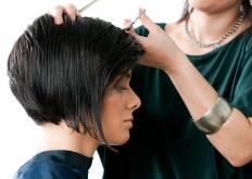 The short layered bob haircut is a bob cut, like this one, but which is layered to hide split ends or add texture.