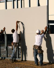 Drywall is often cut with a reciprocating saw during construction projects.