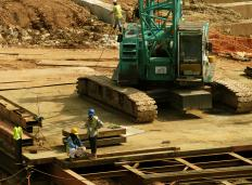 A civil engineer may be responsible for managing the site crew of a construction project.