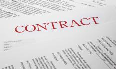 A written contract may be used to layout the terms of an express contract, although an oral agreement may suffice as well.