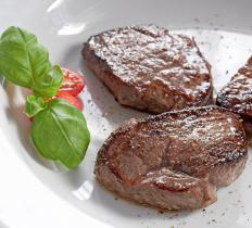 Many people overcook rump steak so it becomes dry and leathery.