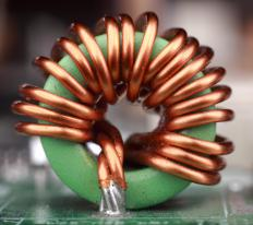 Coils of copper wire are commonly used in electrical inductors.