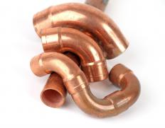 Hot water heaters usually feature copper piping that may react electrochemically with the other metal parts.
