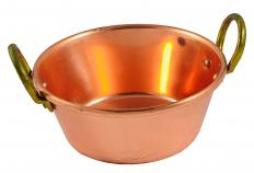 A pot made out of copper.