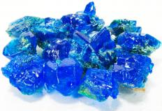 Copper sulfate,which is used in making Daniell cells.