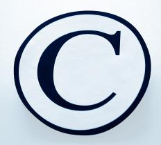 "The copyright symbol, which consists of a circled letter ""C"", indicates that a work has been copyrighted and is not in the public domain."