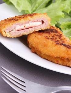 Chicken fillets are used in the creation of Chicken Cordon Bleu.