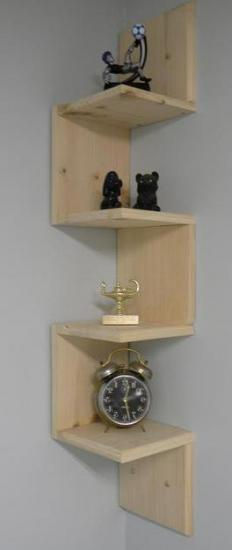 Decorative shelves can be found at most home furnishing centers.