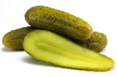 Pickled cucumbers.