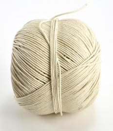 Twine is used for the craft of macrame.