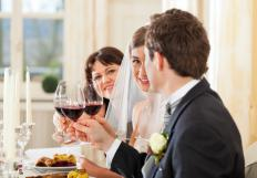 Wedding caterers often have tasting sessions with the bride and groom to help narrow down menu offerings.