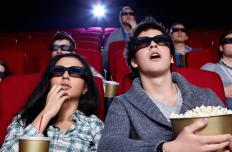 Polarized 3D glasses are used in many movie theaters.