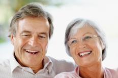 Couple with greying hair.