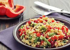 Cold couscous is ideal for salads.