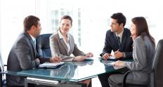An internal wholesaler may work with sales people who conduct meetings with insurance brokers.