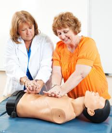 Hands only CPR does not require mouth-to-mouth resuscitation.