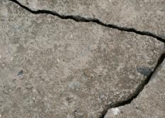 Cracked concrete.