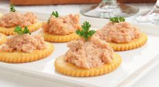Meat spreads with crackers may be served as appetizers.