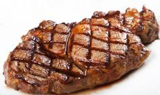 Meat that is cooked rare may contain bacteria.
