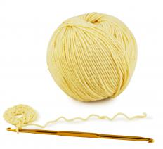 The right sized crochet hook and correct weight yarn is necessary before beginning to crochet.