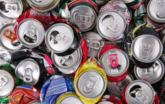 Crushers are used on aluminum cans so they take up less space until being recycled.
