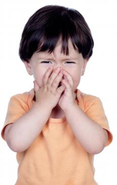 Children often make crocodile tears during temper tantrums.