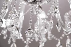 Crystal may be used to make a chandelier.