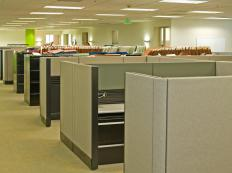 Unlike a corner office, cubicles do not offer privacy.