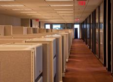 Cubicles in an office building.