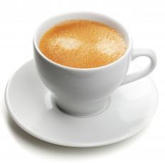 A flat white, a type of Australian coffee.