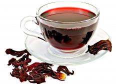 Goji berry tea is sometimes paired with other herbal teas, like hibiscus, to add flavor.