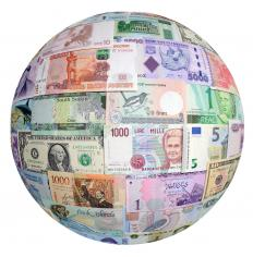 Global currencies include the US dollar, the euro and Japanese yen.
