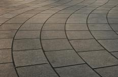 Stone paving might be used to create a patio.