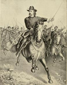 General George Custer was known for wearing a Van Dyke beard.
