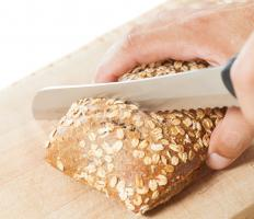 Many find that a serrated bread knife is best for cutting pineapple.