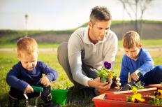 A person could have a great deal of fun and frustration when gardening with kids.